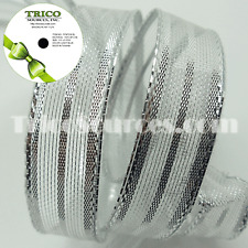 """Trico Metallic X'MAS Gold & Silver Ribbon with Wire 5/8""""(16mm) x 10YDS - B4052"""