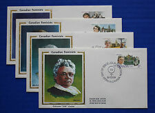 "Canada (879-882) 1981 Canadian Feminists Colorano ""Silk"" FDC set"