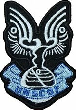 """Halo UNSCDF 3.5"""" Logo Sew Ironed On Badge Embroidery Applique Patch"""