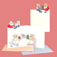 150  Pig Petite Gift Cards, Die-cut with the Picture Continuing Inside