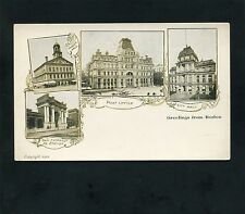 early 1902 multi-view buildings in BOSTON Massachusetts postcard Suffolk County