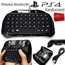 PlayStation for PS4 Bluetooth Tastiera Wireless Chatpad Controller Joypad Nero