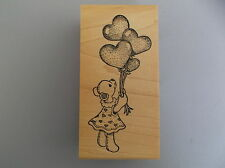 CREATIVE IMAGES RUBBER STAMPS CISTAMPS BALLOON BEAR NEW STAMP