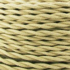 TAN COTTON - Cloth Twisted Wire 25ft Roll - Lamp Cord - Antique Fan Rewire