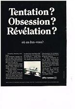 PUBLICITE  1969   ALFA ROMEO   tentation?