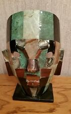 MEXICAN MAYAN BURIAL ABALONE STONE FACE MASK