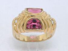 Pink Turmalin Ring 750 Gelbgold 18Kt Gold  2 x Brillant !!! Top-Ware!