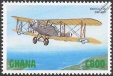 RFC/RAF BRISTOL F.2/F.2B (Brisfit) Biplane Fighter Aircraft Stamp (1998 Ghana)