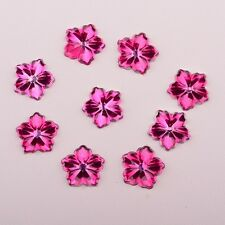 50pcs Crystal Spring Flower Flatback Appliques/Craft/Wedding Decoration D274