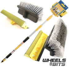WNB 3M 9.8FT ALUMINIUM TELESCOPIC WATER FED WINDOW CAR VAN WASH BRUSH EXTENDABLE