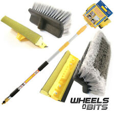WNB 3M 9.8FT ALUMINIUM TRIPLE TELESCOPIC CAR WASH WINDOW BRUSH INCLUDES SQUEEGEE
