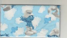 SMURF CHECKBOOK COVER FABRIC BRAND NEW  CLOUDS SMURFS