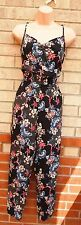 SELECT BLACK SILKY FEEL STRAPPY PINK MULTI COLOR PAISLEY JUMPSUIT ALL IN ONE 12