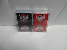 Eight decks of Ohio State Playing Cards. 4 Red and 4 Black decks. Plastic cases