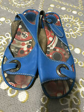 Fly London Blue Size 7 Leather Sandals