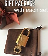 LOUIS VUITTON LOCK KEY # 320 POLISHED PADLOCK W/GIFT BOX - MANY #'S AVAIL, ASK!!