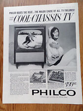 1960 Philco TV Television Ad   New Cool-Chassis TV