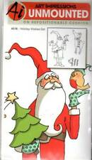 New ART IMPRESSIONS RUBBER STAMP Cling Set CHRISTMAS HOLIDAY WISHES free us ship
