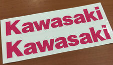 "x2 Kawasaki Decals Stickers Vinyl motorcycle ninja ZX 6""-12"""