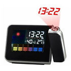NEW Digital LCD LED Projector Projection Alarm Clock Weather Station Calendar
