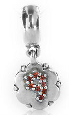 RETIRED! Pandora Charm-Silver and Garnet Dangle Number 9 -790550GA9 RRP£65!!!