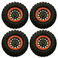 """4x 1.9"""" Wheel Rim &108mm Rubber Tyre Tire for AXIAL SCX10 1/10th RC Crawler(#2)"""
