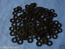 4mm NYLON PLASTIC WASHER SPACER TO SUIT M4 and 4mm BOLT and SCREWS PACK 10 BLACK