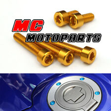 Gold CNC Petrol Fuel Cap Bolts Screws Yamaha FZ1 N S FAZER 06-08 09 10 11 12 13