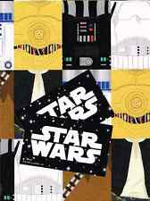 STAR WARS 2 SHEETS OF GIFT WRAP AND 2 GIFT TAGS NEW GIFT