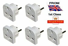 5 Travel Adaptor UK to EU Pin Convert Power European Plug Converter Euro Charger
