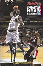 2000-01 SPORTING NEWS NBA BASKETBALL REGISTER TIMBERWOLVES GARNETT ON COVER