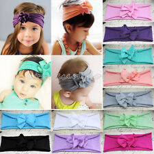 5pcs Kids Girls Baby Toddler Flower Elastic Cotton Headband Hair Band Headwear
