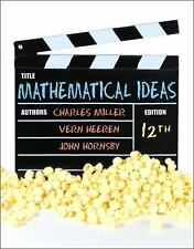 Mathematical Ideas by Heeren, Hornsby and Miller, Instructor's Edition, 12th ED