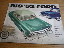 FORD  USA CUSTOMLINE, MAINLINE & CRESTLINE PRESTIGE BROCHURE 1952 jm