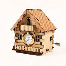 ORGEL CLOCK CUCKOO HOUSE Model Kit Music Box Wooden Unassembled Decoration Toy