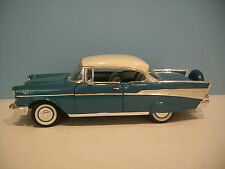 1:18 Scale Road Legends Blue 1957 Chevrolet Bel Air Hard Top Diecast By Yat Ming