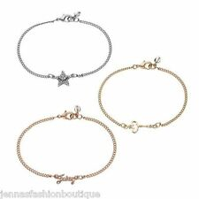 JUICY COUTURE set of 3 star, key and Juicy logo tri toned bracelets NEW IN BOX