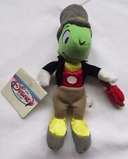 "JIMINY CRICKET Mini Bean Bag 8"" The Disney Store Pinocchio Plush with Tags"