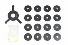 Bokeh Kit, 16 Stars shapes+holder. Universal Photo Camera Filter System 35-70mm