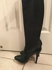 CASADEI Womens Black Leather Boots Sz 7 Pristine!