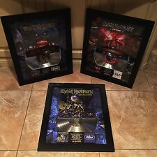 3 Iron Maiden Live After Death  Platinum Record Album Disc Music Award MTV RIAA