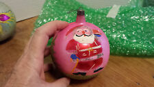 2 Old Poland hand painted Christmas tree ornaments LARGE 5 3/4""