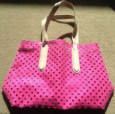 NEW Victoria's Secret Pink Large Tote Bag Weekend Beach Pool Neon Very Sexy NWT