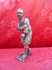 sehr alte Metallfigur__Chinese__versilbert (Silber?)__Buddistischer Mönch__China