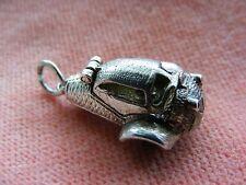 VINTAGE STERLING SILVER CHARM The Messerschmidt three wheeler car opens