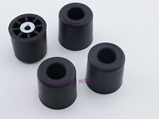 """Set of 4 - Round Rubber Feet 1.375"""" Tall - Steel Bushing - Sold by W5SWL"""