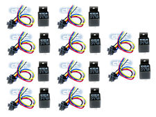 (10 PAIR) RELAY & HARNESS 30/40 AMP SPDT 12V BOSCH STYLE + 100% COPPER WIRES