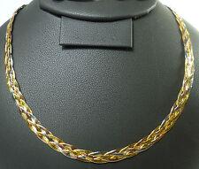 14K 585er Bicolor Dreifarbig Farbig Kette Collier Halskette 46 cm