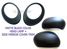 FOR NISSAN JUKE 4DR HATCHBACK 2011-2015 MATTE BLACK HEAD LIGHT SIDE MIRROR COVER