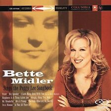 Bette Midler : Sings the Peggy Lee songbook  CD DUAL DISC BIN FREE SHIPPING